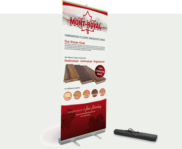 Impression grand format d'affiches de type roll-up